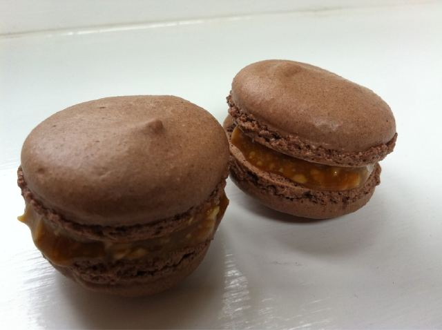 Salty Snickers macarons - thelittleloaf
