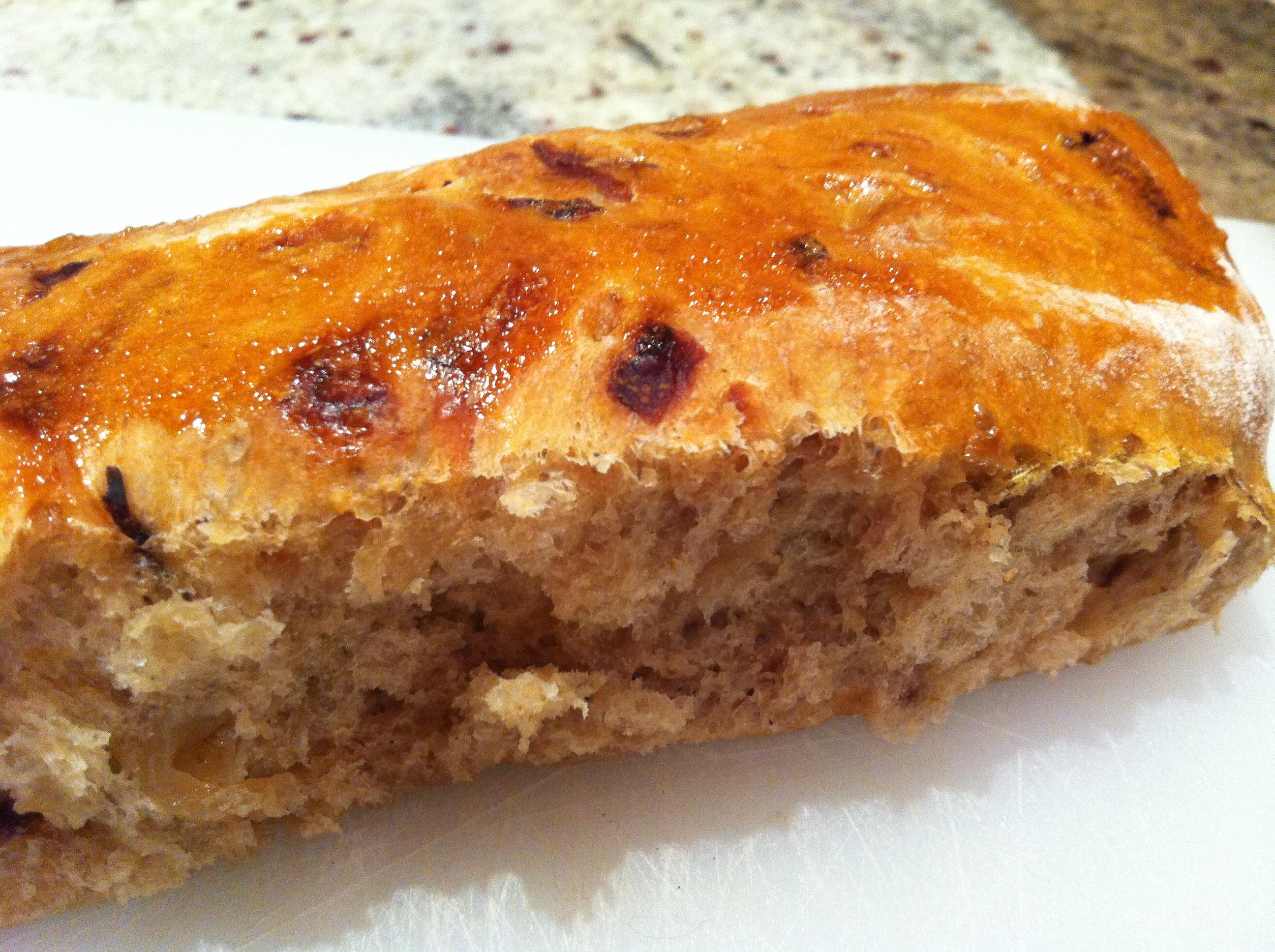 Dan Lepard's homemade onion hot dog buns - thelittleloaf