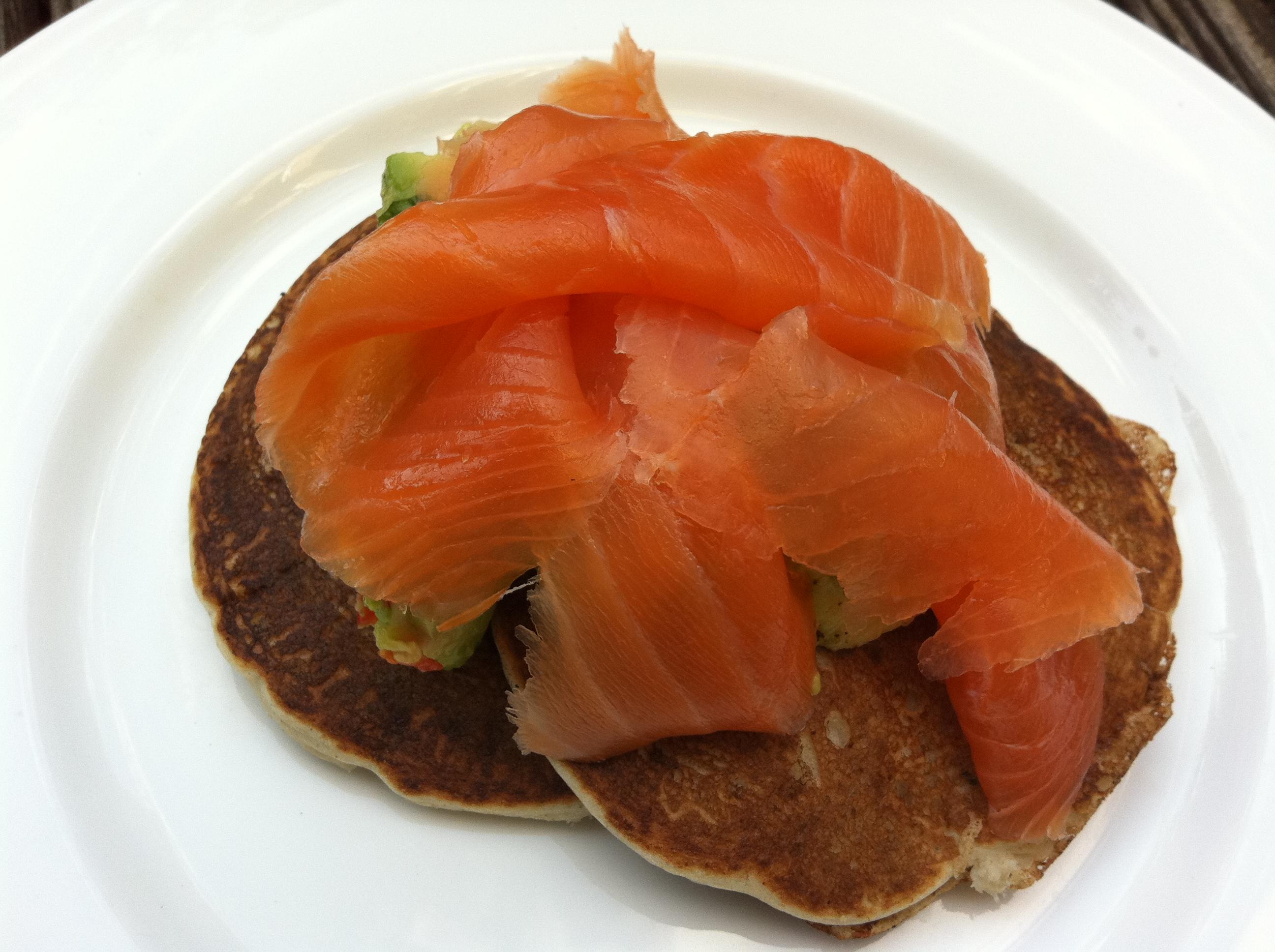 smoked salmon hash buckwheat pancakes with smoked pancakes and smoked ...