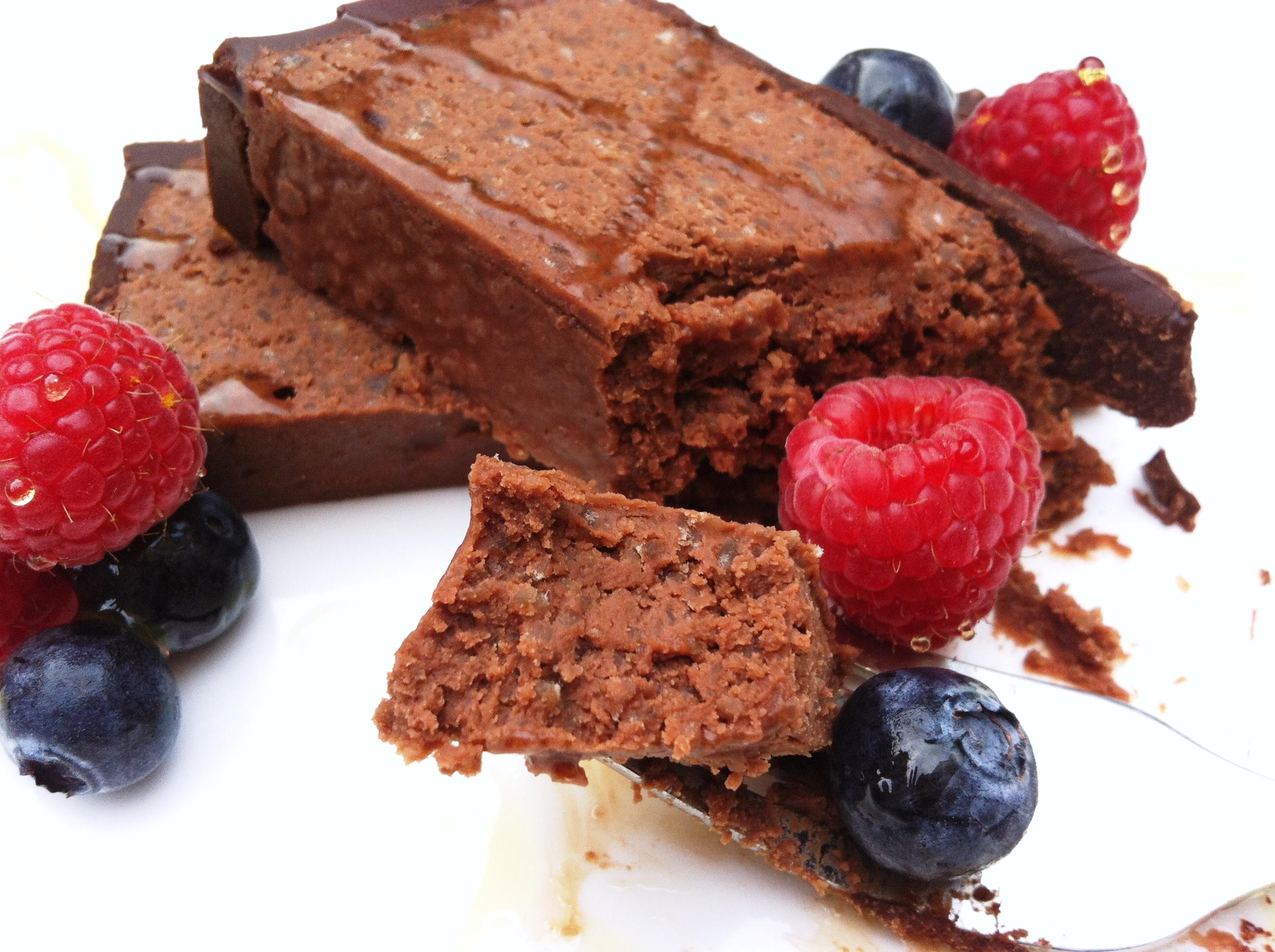 Chocolate Chestnut Truffle Cake - thelittleloaf