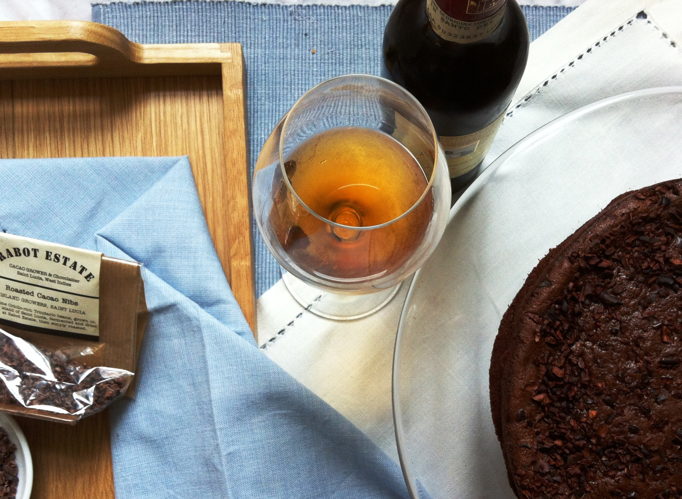 Chocolate Cacao Nib Cake with Vin Santo Ice Cream - thelittleloaf