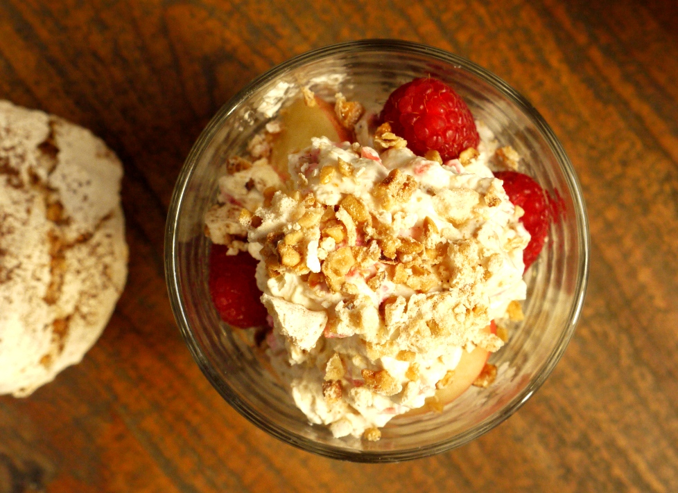 Hazelnut Thins With Crushed Raspberries And Strawberries Recipes ...