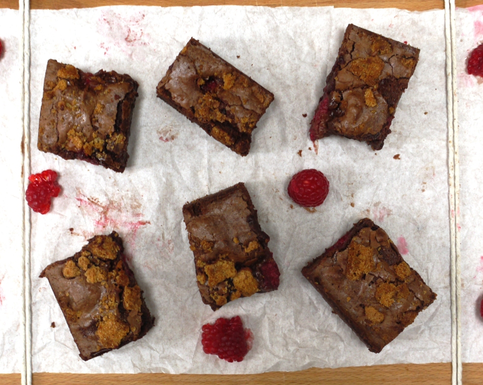 Raspberry Amaretti Brownies