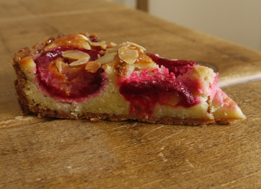 Fresh Plum Frangipane Tart Recipe — Dishmaps