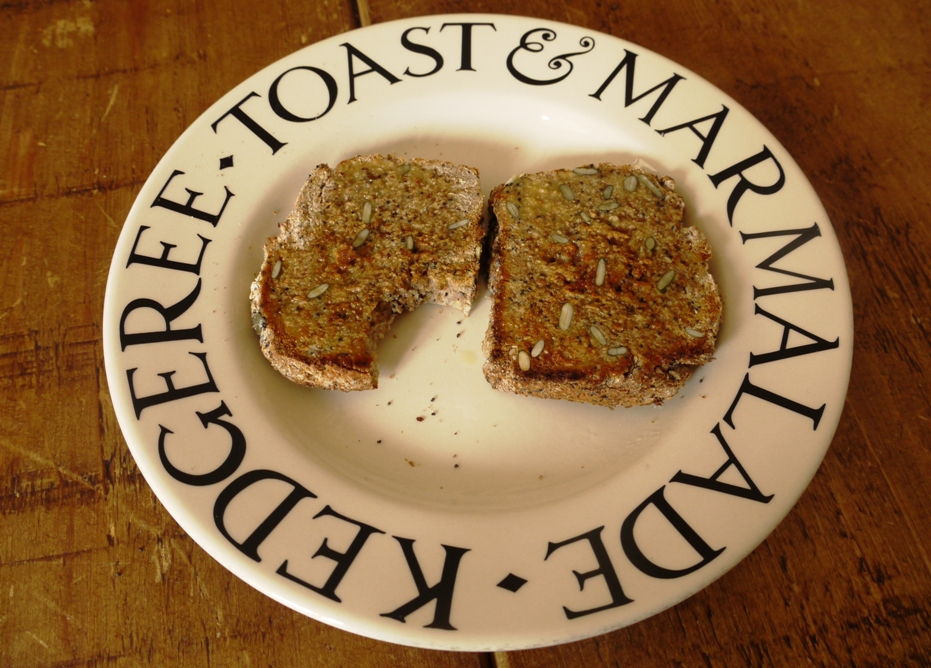 Seeded soda bread toast