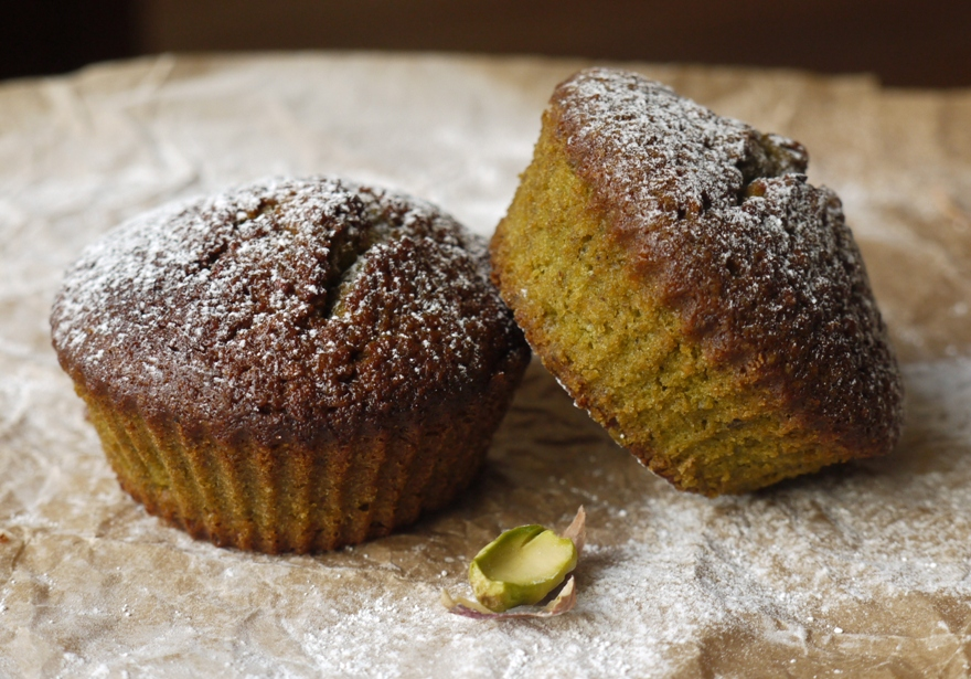 Green Tea, Honey & Pistacio Financiers