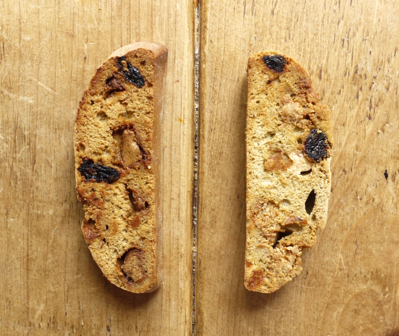 Caramelized White Chocolate & Cherry Biscotti - thelittleloaf