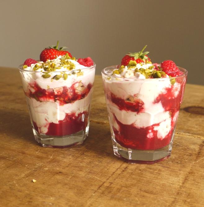 Raspberry & Pistachio Eton Mess