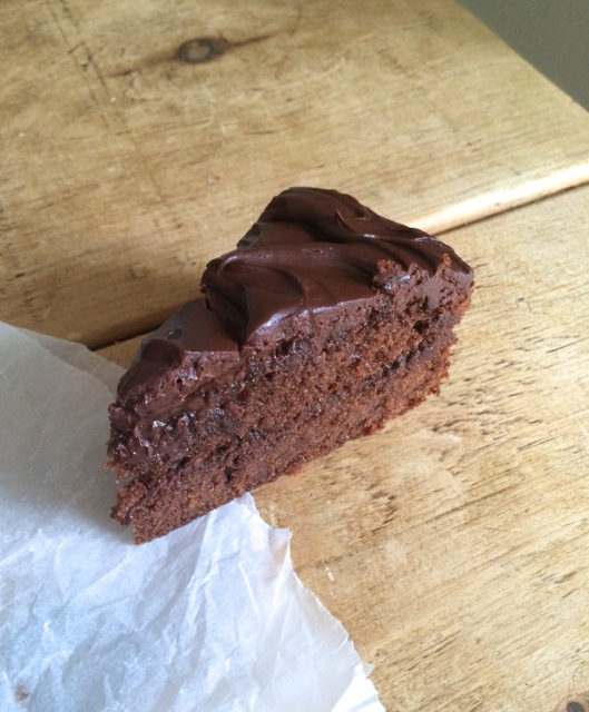 chocolate cake with yoghurt ganache