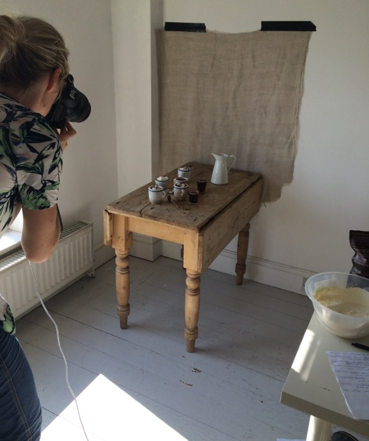 Photographing chocolate mousse