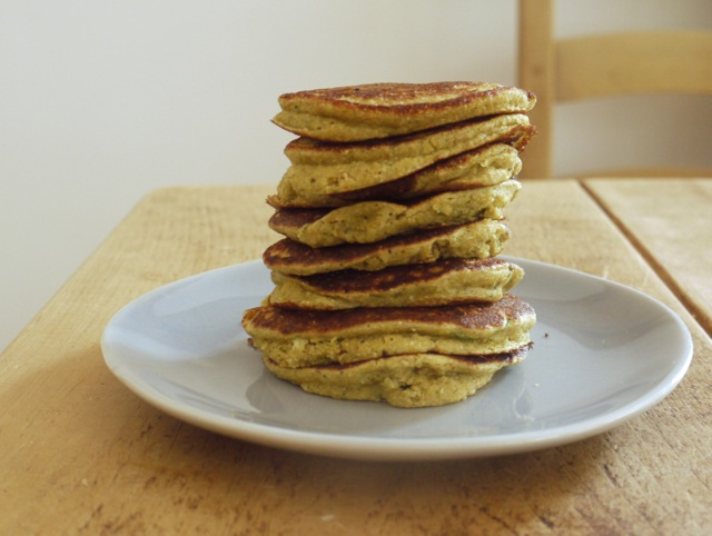 Top with Cinnamon courgette & cornbread pancakes