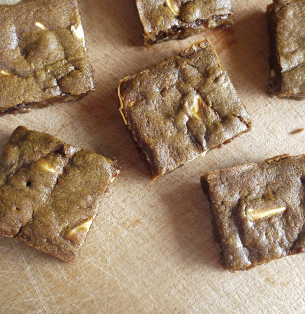 Gingerbread Blondie squares