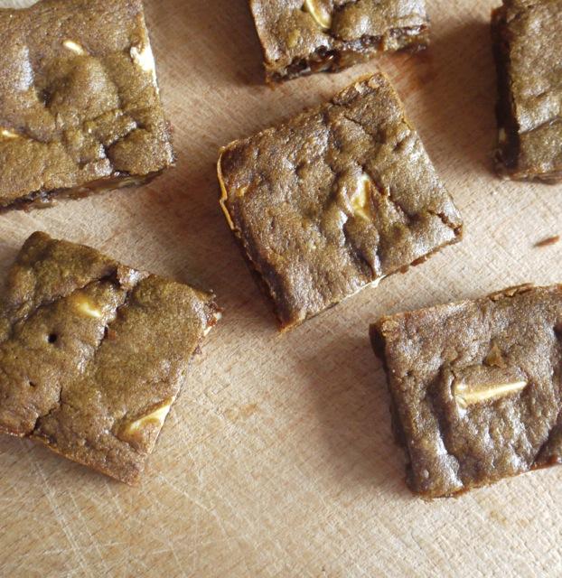 Gingerbread Blondie squares