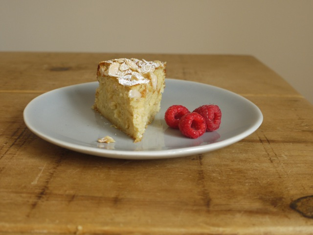 Flourless Lemon Almond & Ricotta Cake Raspberries