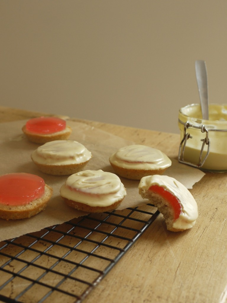 Rhubarb White Chocolate Jaffa Cakes Recipe