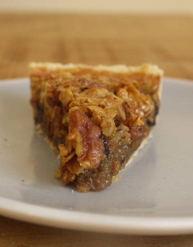 Walnut Cherry Oat Butter Tart Pie slice