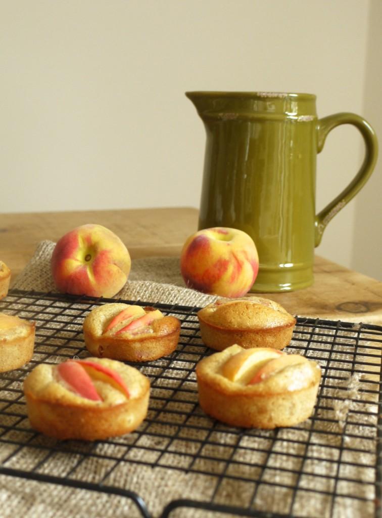 Peach Almond Bun Cakes