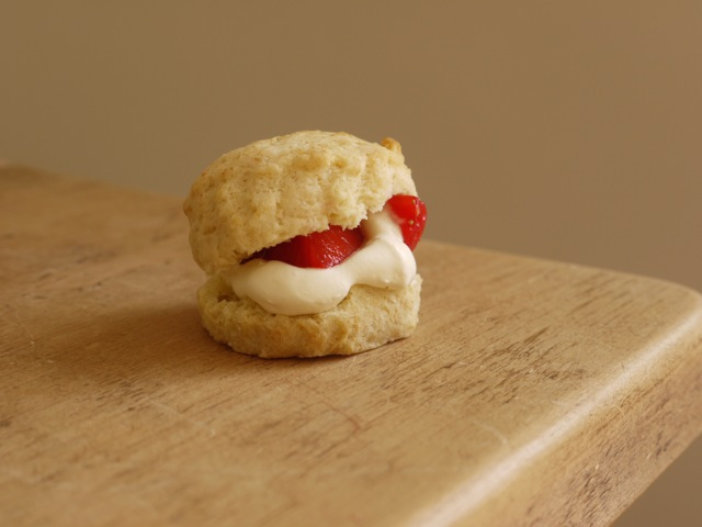 Strawberries & Cream Scone