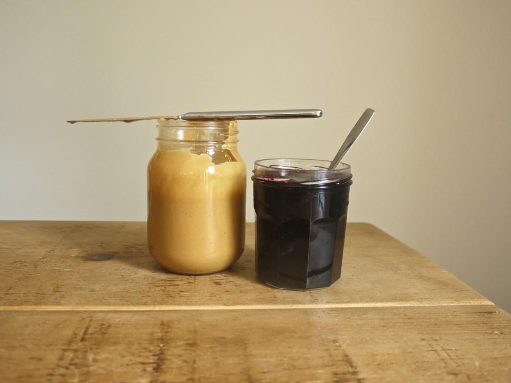 Peanut butter blueberry jam