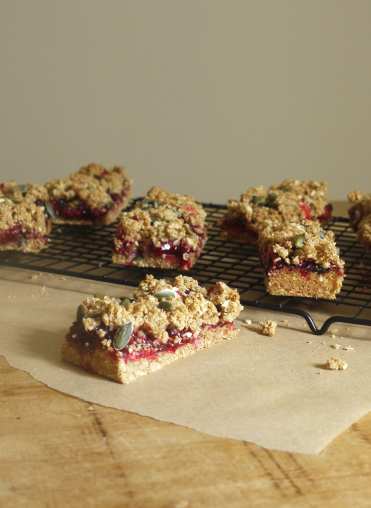 Blackberry + Apple Crumble Bars
