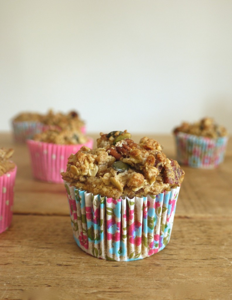 Carrot Apple Crumble Muffin