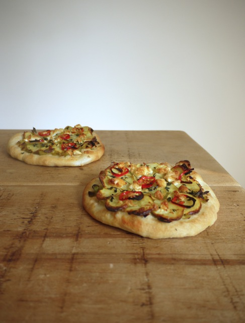 Leek Potato Pizzette