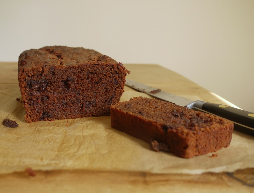 Chocolate Apricot Loaf Cake