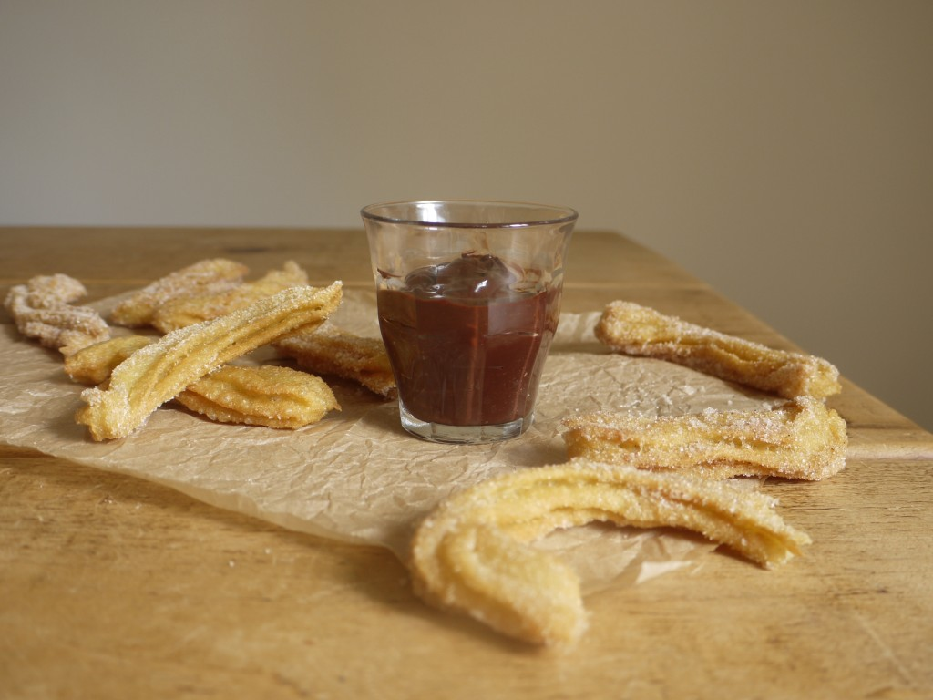 Churros with Chocolate Orange Sauce1