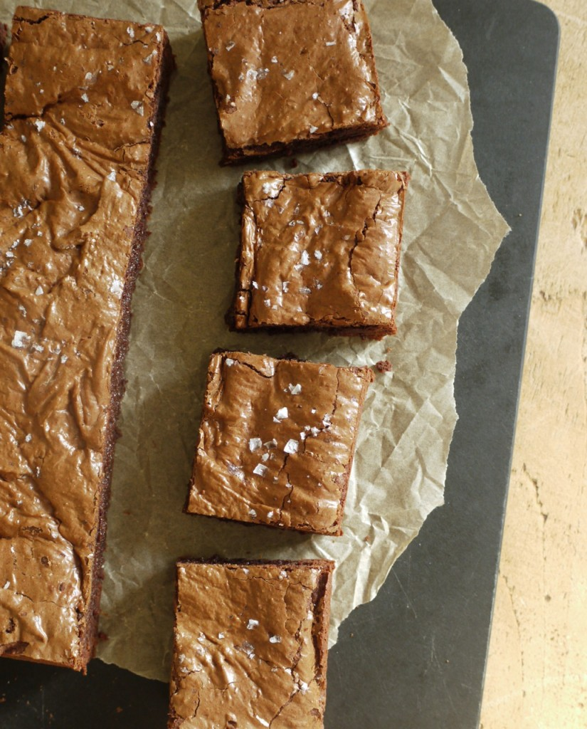 Rye Chocolate Brownie Squares