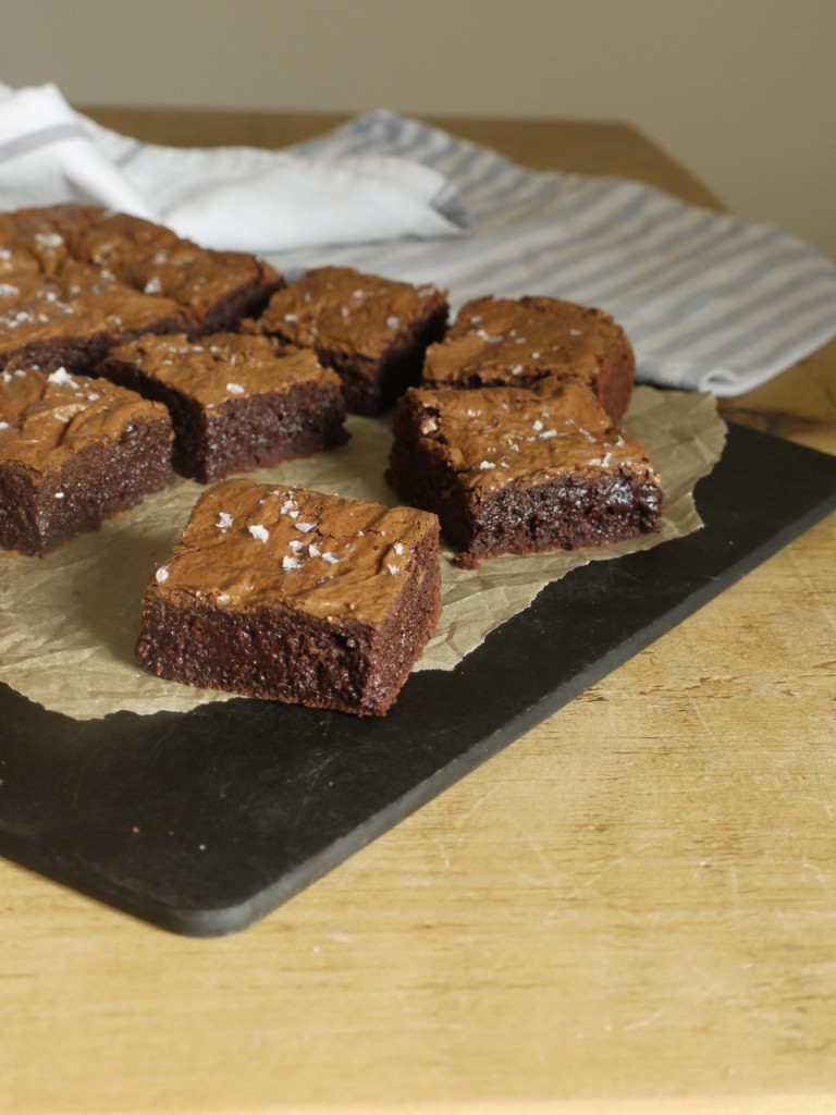Gooey Rye Chocolate Brownies