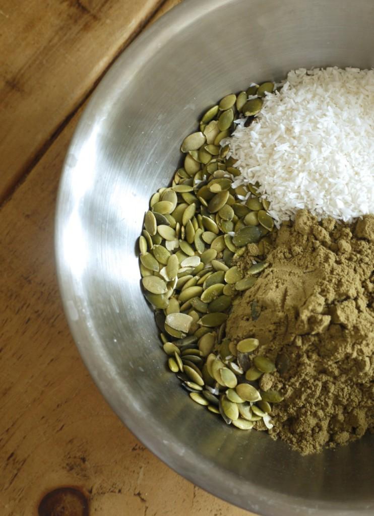 Pumpkin seeds, coconut & hemp protein powder