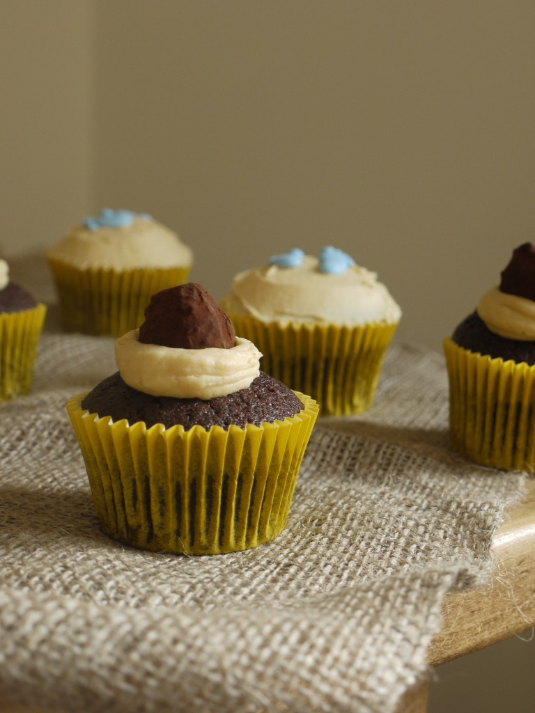Chocolate Cupcakes with Caramel Buttercream