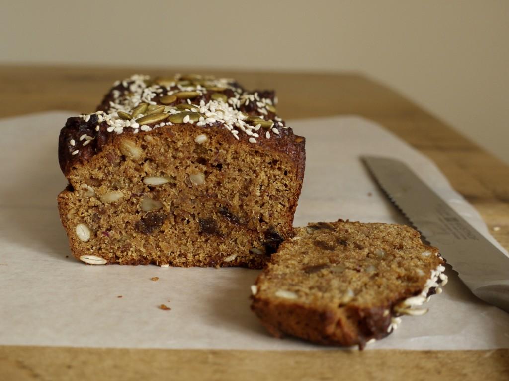 Date, Apricot & Walnut Loaf Cake Slice