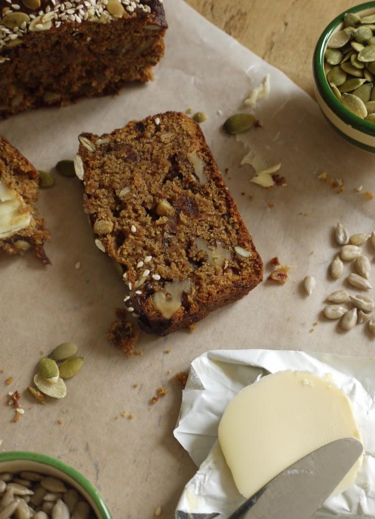 Date, Apricot & Walnut Loaf Cake