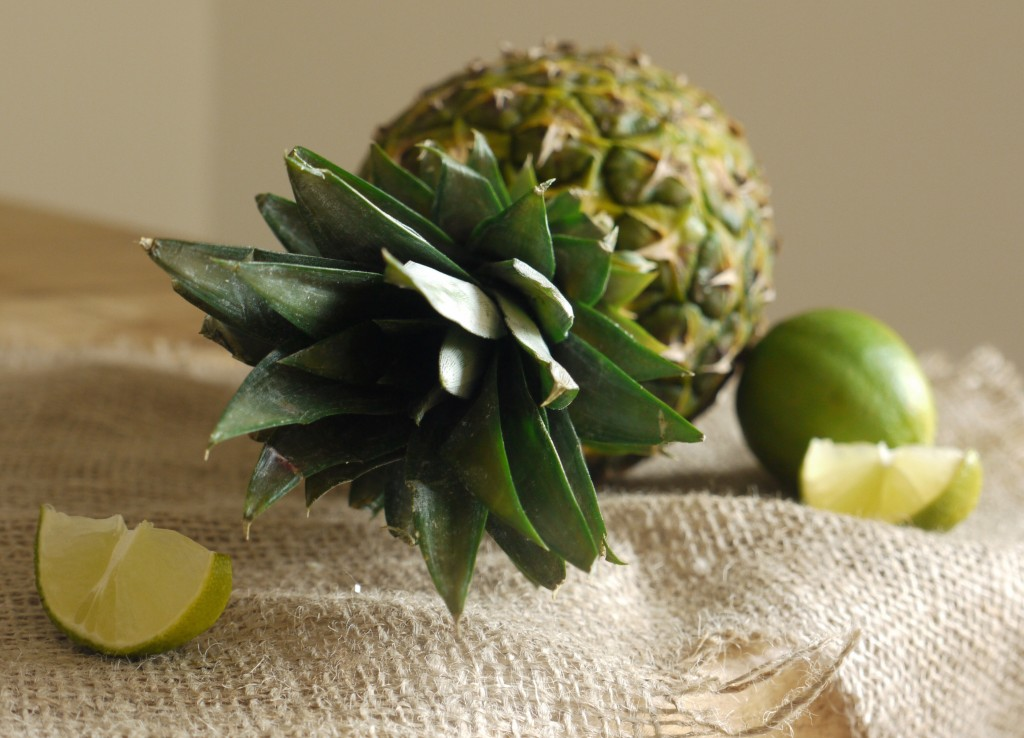 Pineapple & Lime for Virgin Pina Colada