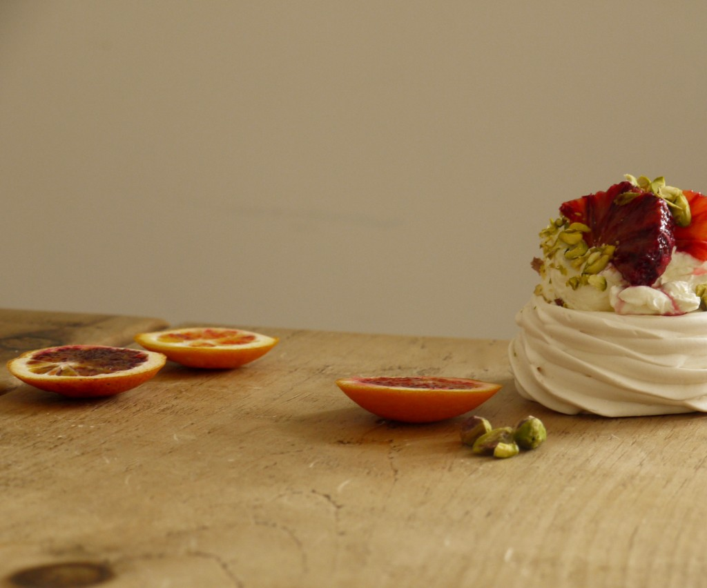Blood Orange Pistachio Pavlovas - 5