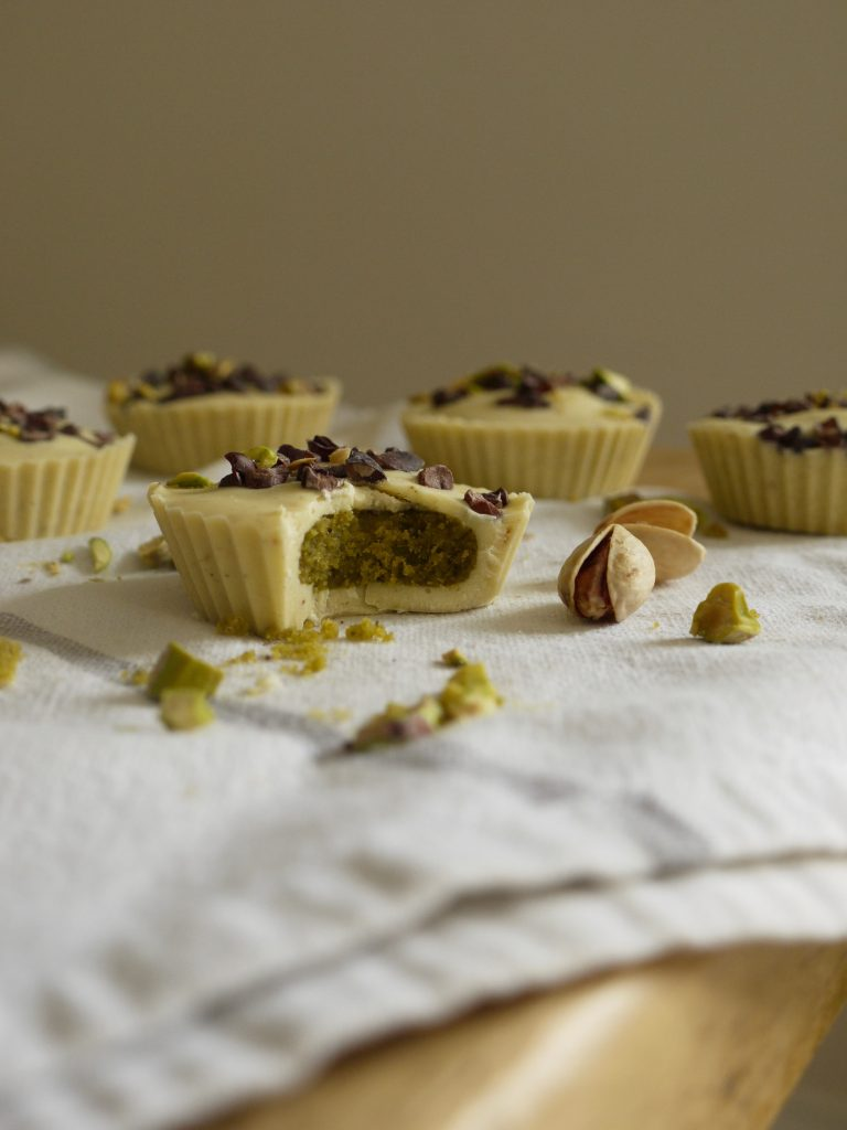 White Chocolate Pistachio Butter Cups