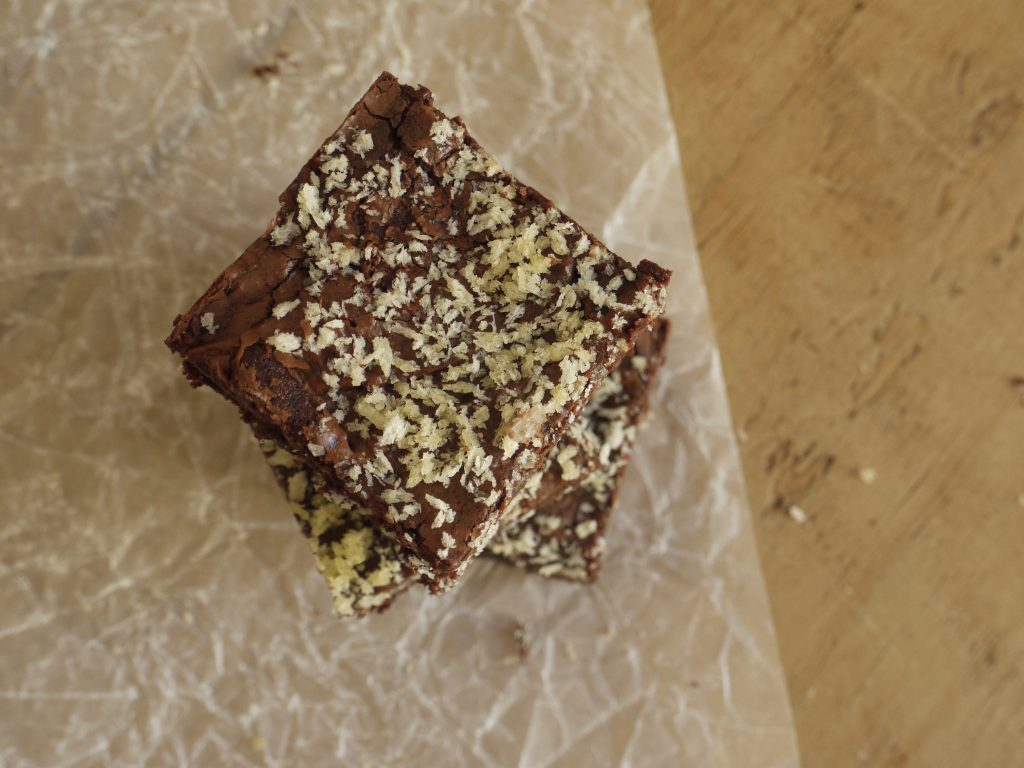 Dark Chocolate Panko Brownies - 4