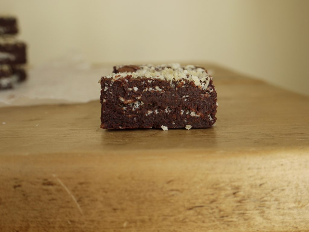 Dark Chocolate Panko Brownies - 5