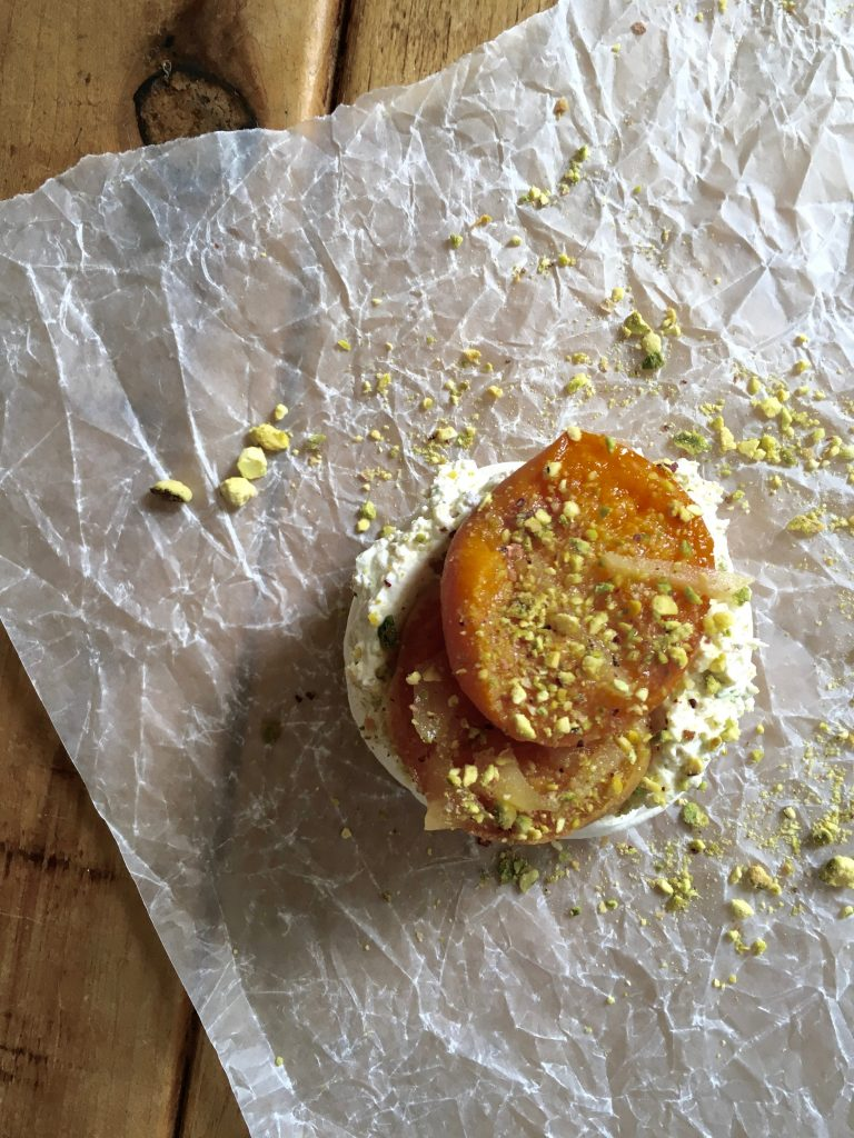 Apricot, Stem Ginger & Pistachio Meringues