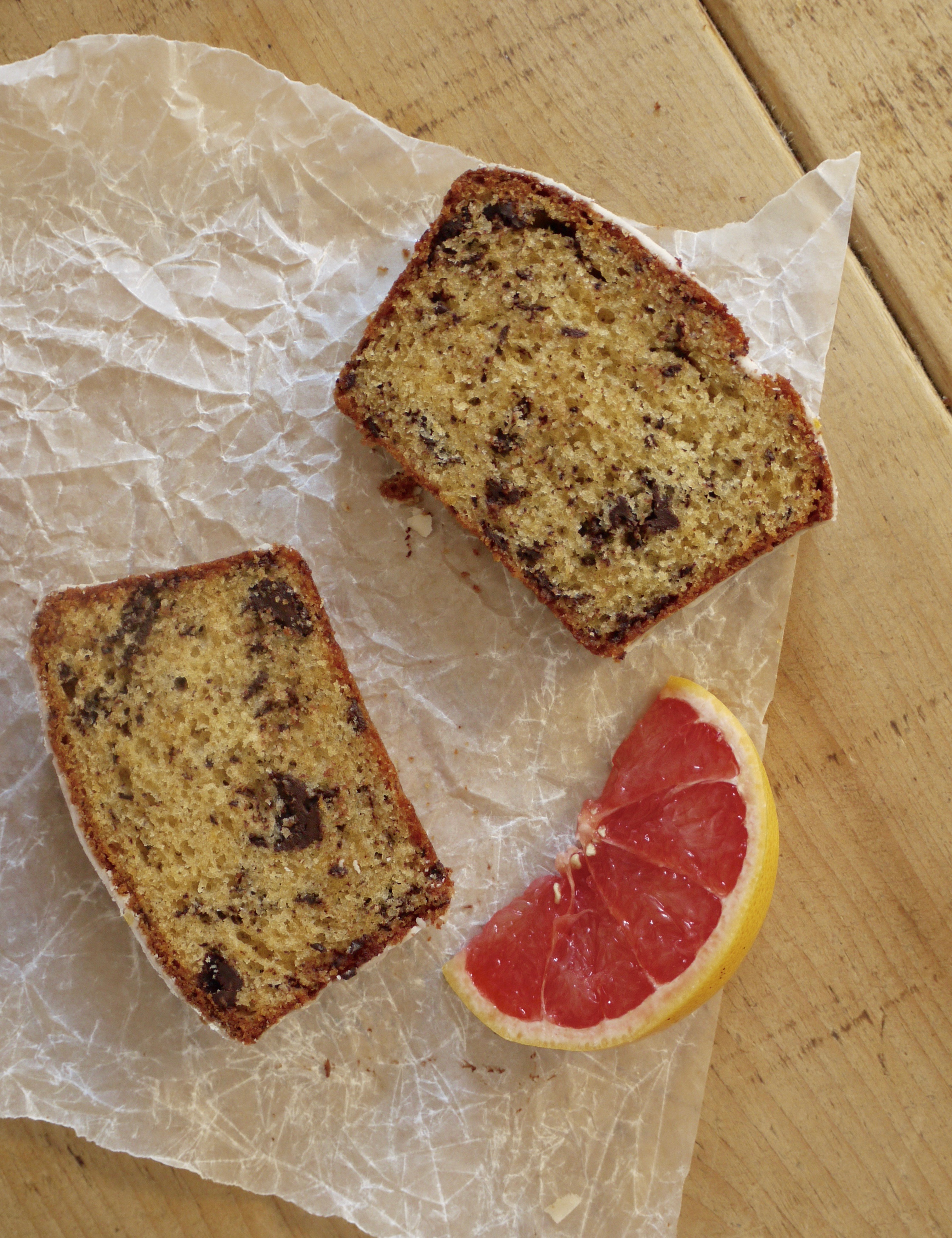 Grapefruit Olive Oil Cake With Bittersweet Chocolate