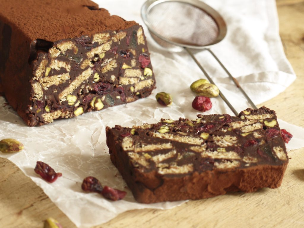 festive-chocolate-biscuit-cake-with-cranberries-pistachios-ginger-3