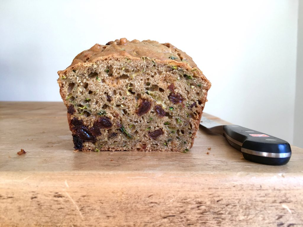 Courgette & Raisin Loaf Cake - 2