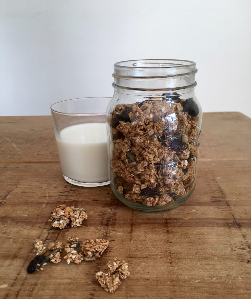 Seedy Coconut Granola Clusters Jar