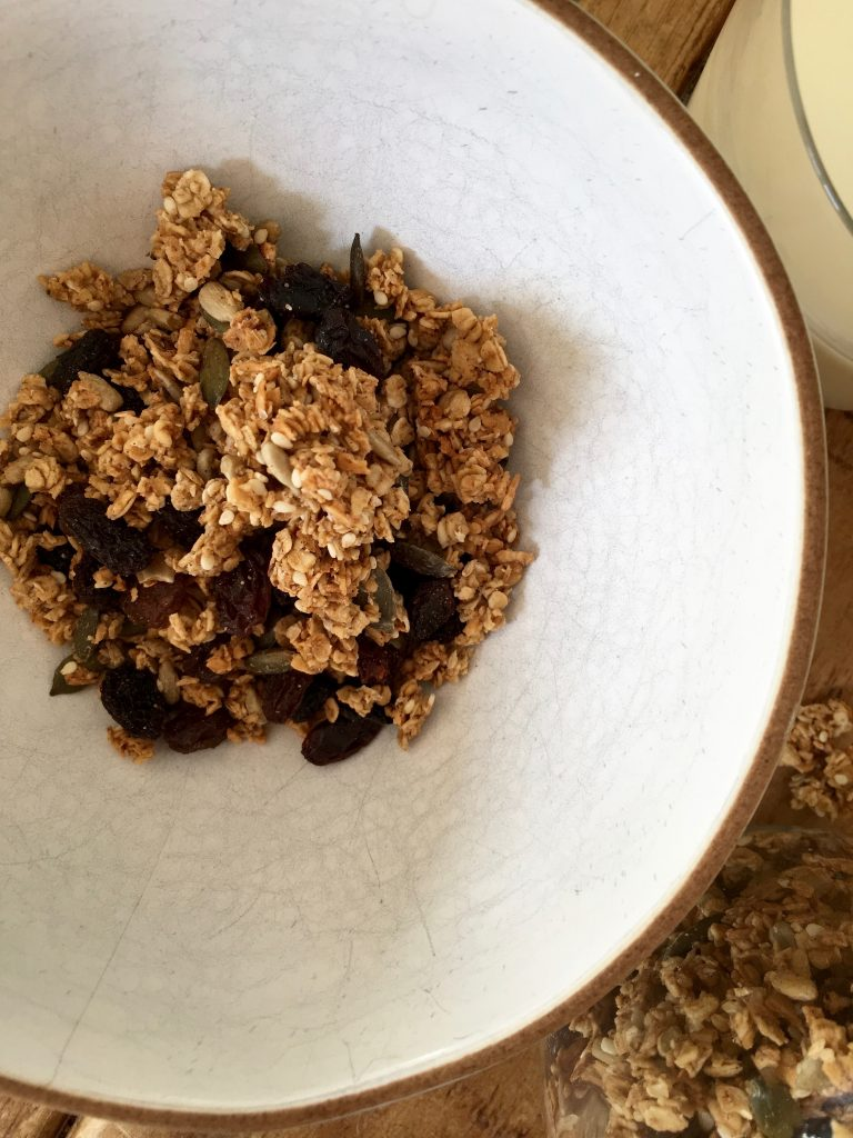 Seedy Coconut Granola with Proper Clumps - 4