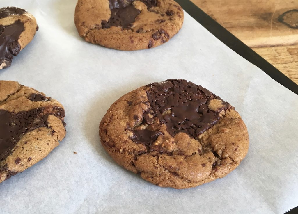 Salted Chocolate Chip Cookies - 4