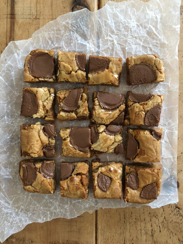 Peanut Butter Cup Blondies - 1