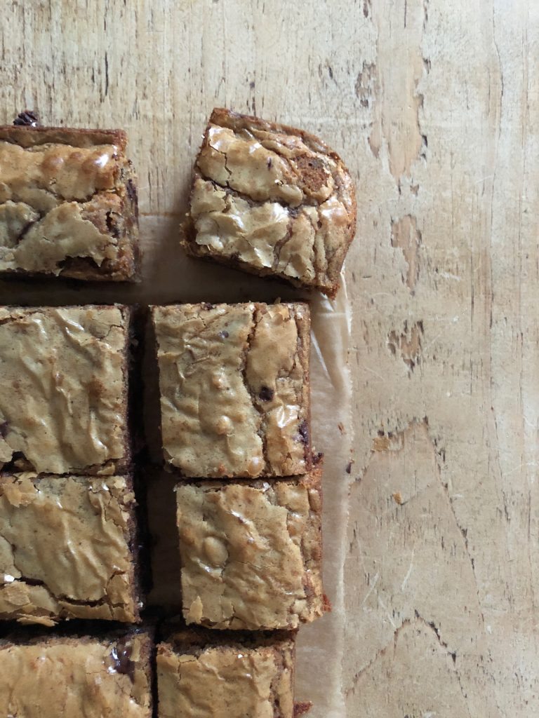 Brown Butter Miso Blondies - 3