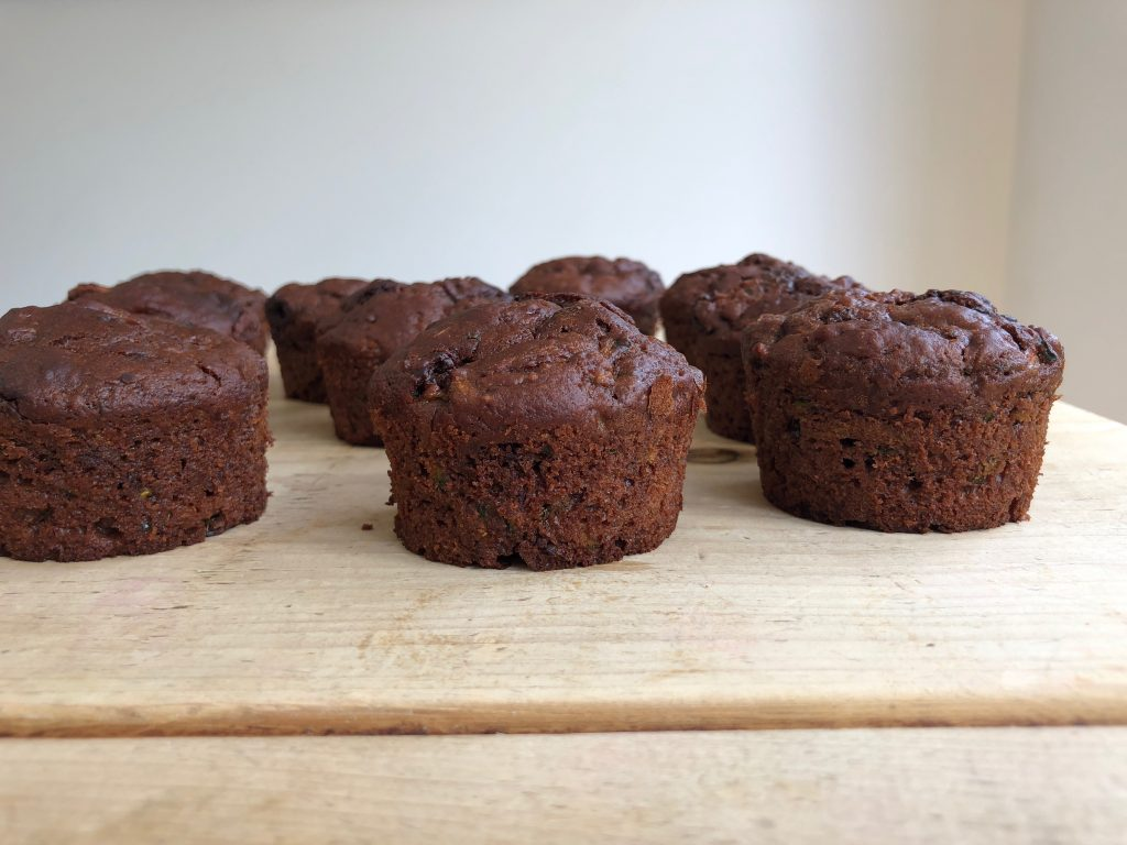 Chocolate Courgette Muffins - 3