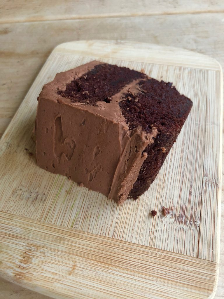 Everyday chocolate cake slice
